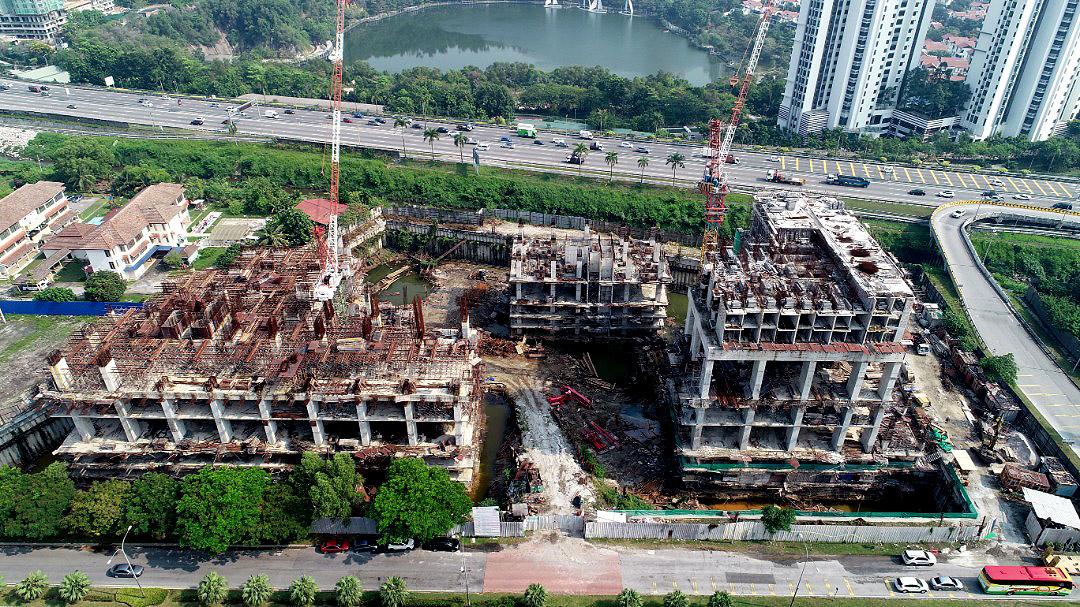 CONSTRUCTION PROGRESS OF EDUMETRO @ SUBANG JAYA  (APRIL 2019)