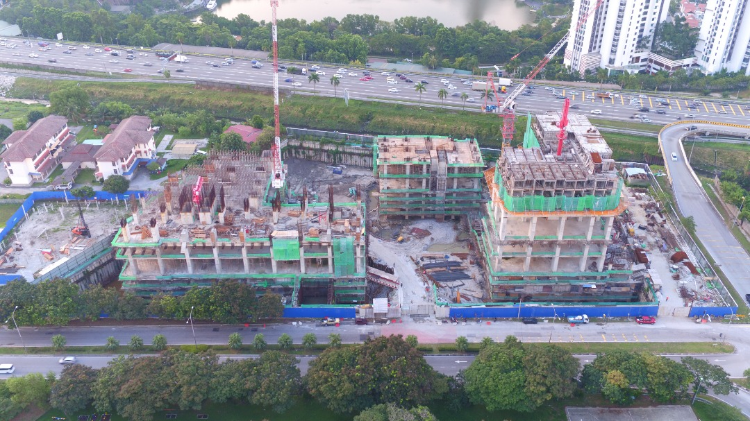 CONSTRUCTION PROGRESS OF EDUMETRO @ SUBANG JAYA  (JULY 2019)