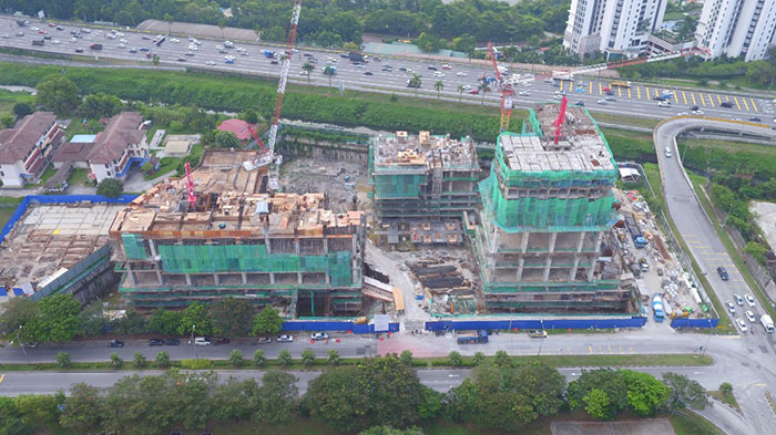EDUMETRO – SUBANG JAYA 的施工进度 (2019 年 7 月)