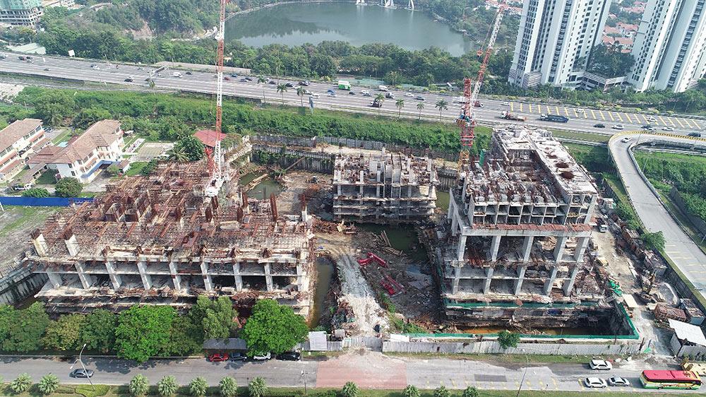 EDUMETRO – SUBANG JAYA 的施工进度 (2019 年 4 月)