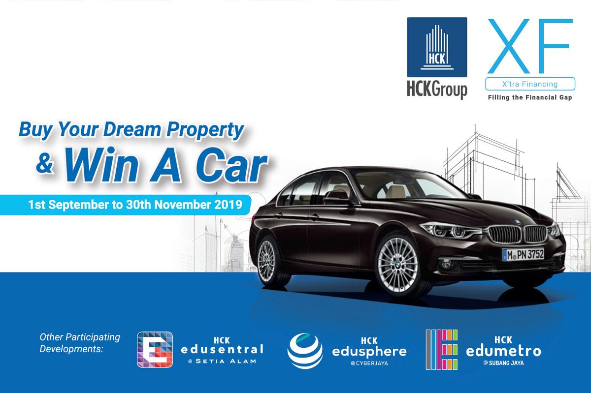 购买您的梦想物业并赢得汽车
