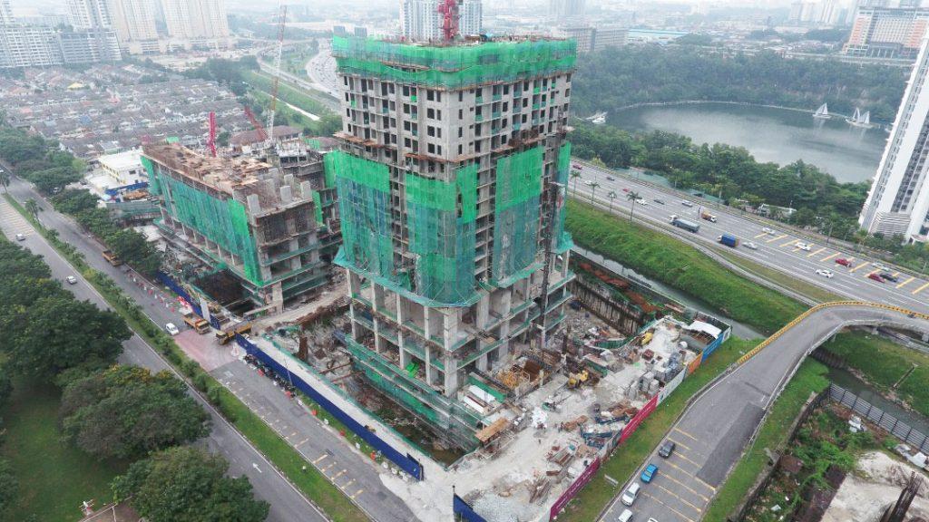 EDUMETRO – SUBANG JAYA 的施工进度 (2019 年 11 月)