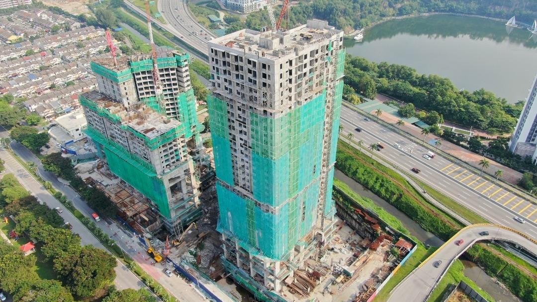 EDUMETRO – SUBANG JAYA 的施工进度 (2020 年 06 月)