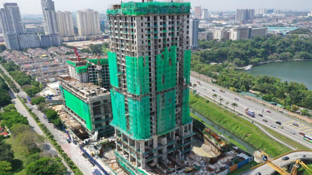 EDUMETRO – SUBANG JAYA 的施工进度 (2020 年 2 月)