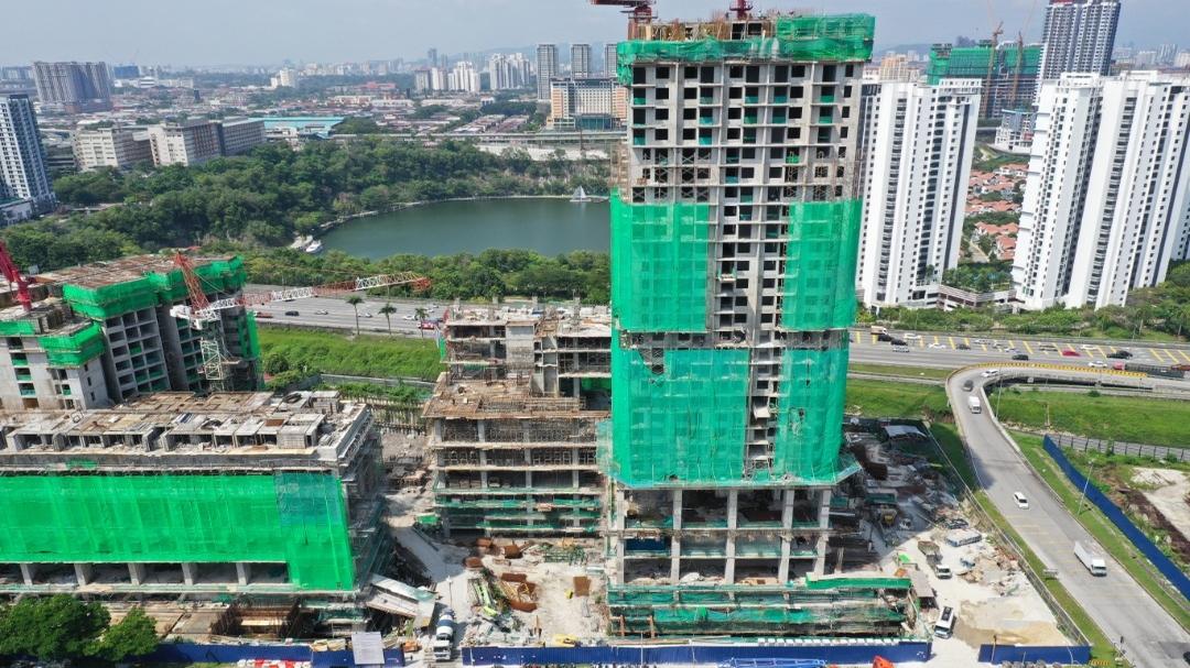 EDUMETRO – SUBANG JAYA 的施工进度 (2020 年 02 月)
