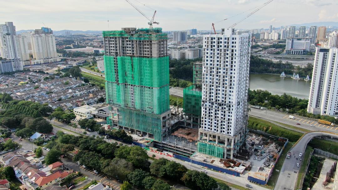 EDUMETRO – SUBANG JAYA 的施工进度 (2021 年 2 月)